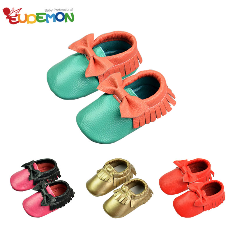 2016 Baby Shoes Genuine Leather Baby First Walker Shoes Bow Tassel Soft And Skid Baby Mocassins for Infant Toddler First Walkers(China (Mainland))
