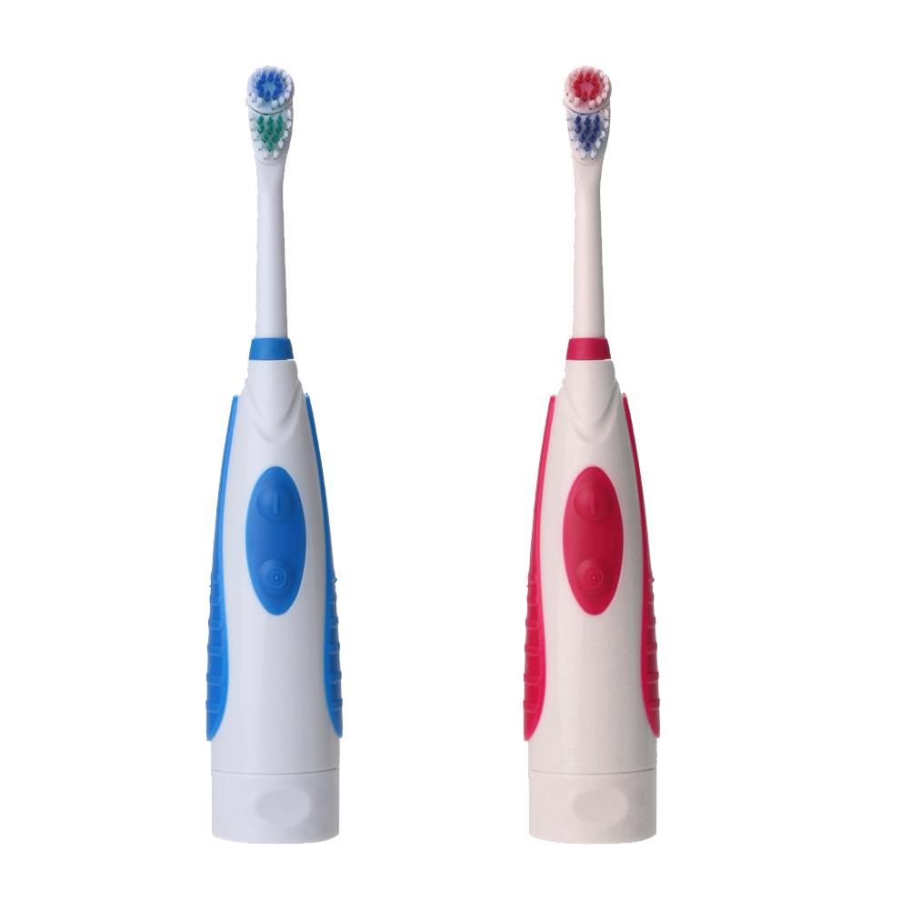 Dupla Limpa Ultra-sônica Rotary Limpeza Profunda Clareamento Dos Dentes Teethbrush Elétrica Grande + 2 Cabeças Escova de Dentes Substituíveis para Adultos