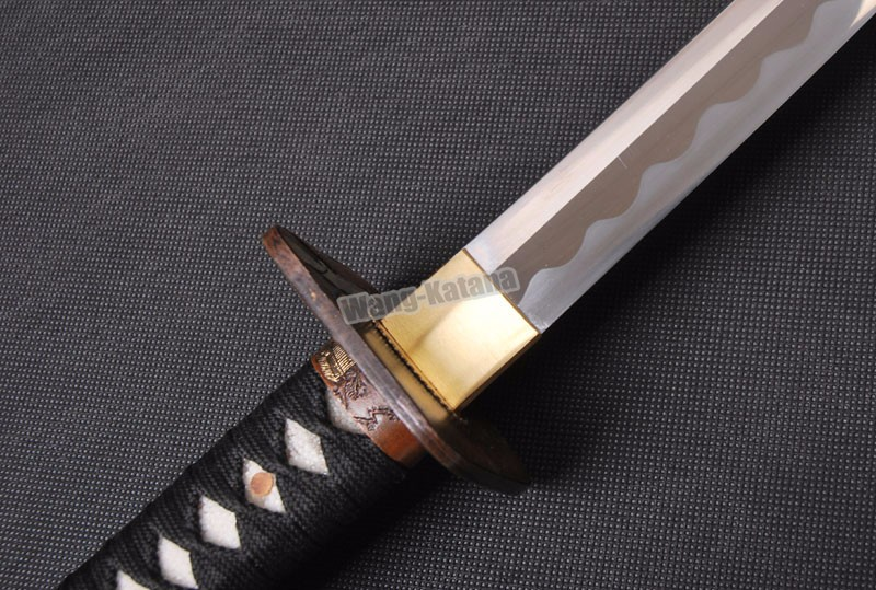 Buy Manganese Steel Handmade Sword Japanese KATANA Full Tang Knife Battle Ready Practical Sharp Blade Knife Can Cut Tree cheap