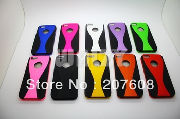 * 500pcs only $573 luxury hard PC cup wine design 3 part 1 dual color case cover shell for iPhone 5 5G