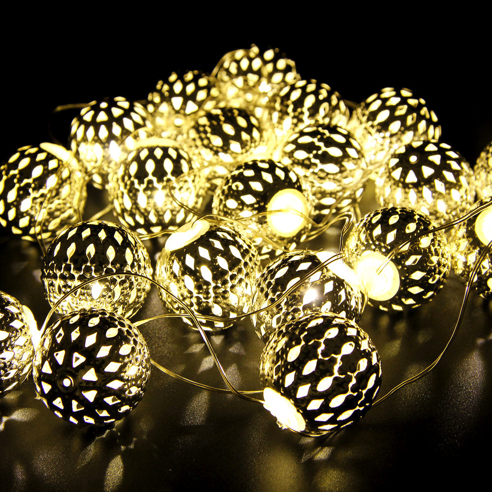 Novelty String Lights Christmas : Holiday Light Novelty Moroccan Flexible Strip 20 Lamp Balls/Set LED String For Wedding Party ...