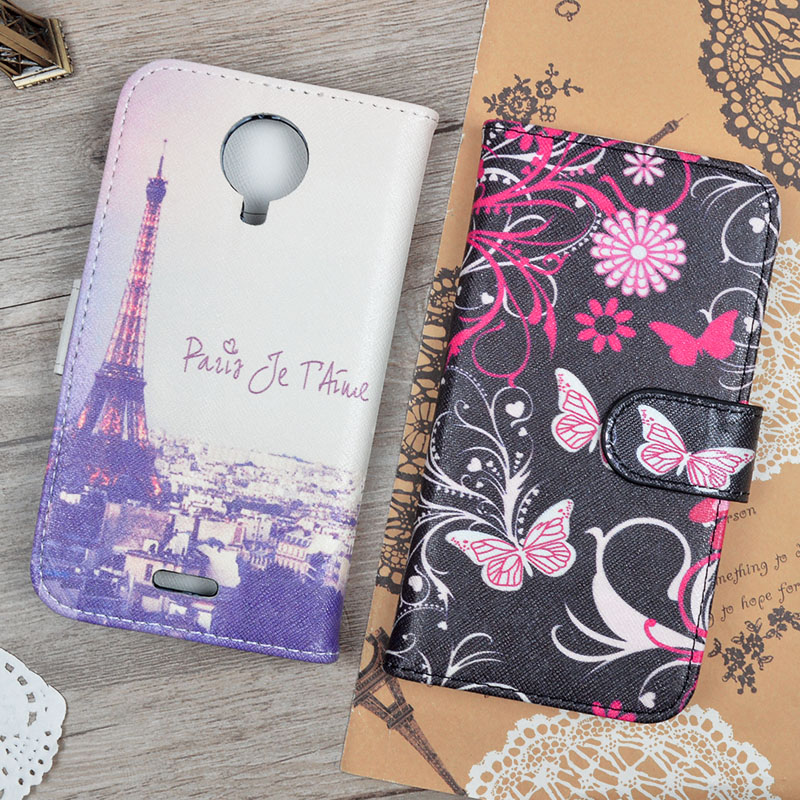Wiko Darknight PU Leather Cover Fashion Cute Printing Design Flip Wallet Case Stand Function Card Holders Phone Bag - Kemity Co., LTD store