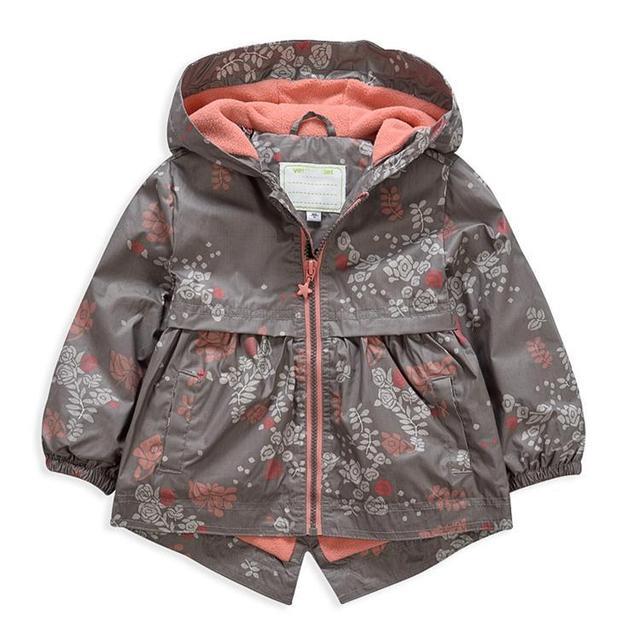 Девушки весна и осень ветровка Детская Повседневная Водонепроницаемый куртка С Капюшоном 4Y-5Y-6Y