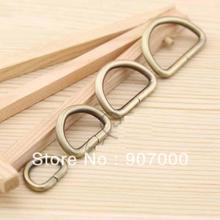 purse bag DIY   Antique brass metal D rings handbag buckles accessory 3.2cm 100pcs/lot(China (Mainland))