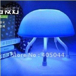 USB Power Dual-Purpose Blue amd White Light LED Jellyfish Lamp Desk Night Light