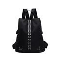 High Quality Nylon Women Backpack Preppy Style School Backpack Black Mater Rivet Women Bag Elegant Design