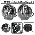 Motorcycle Accessories 5 75 harley headlight High And Low Beam Led Lamp For Harley Sportster Iron