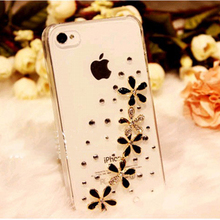 New Luxury 3D 5 Wildflower Bling Crystal Diamond flower Case Cover For ASUS Zenfone Zoom ZX550 ZX551ML retail box Accessory(China (Mainland))