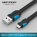 VENTION Mobile Phone Cable Flat Micro USB Cable 2 0 Data Sync Charger Cable For Samsung