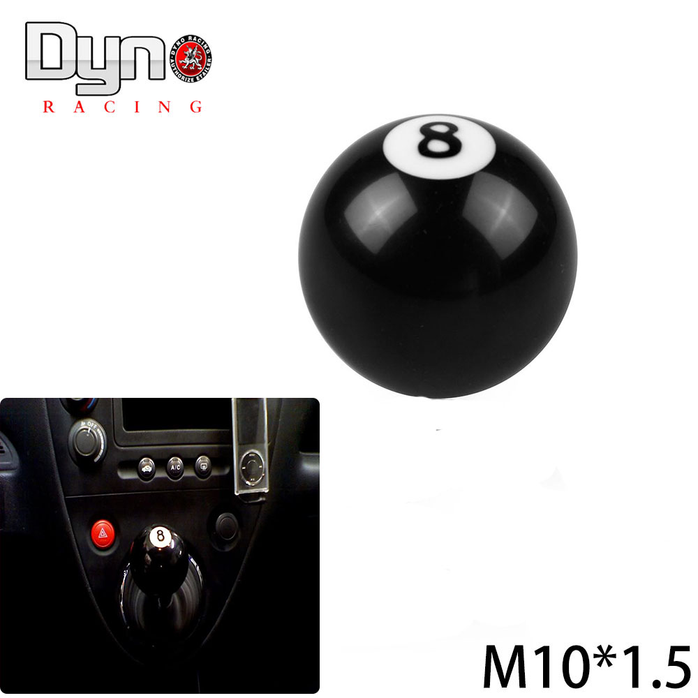 Dyno Racing -Free shipping BLACK 8 BALL SHIFT KNOB FOR MANUAL SHORT THROW GEAR SHIFTER(China (Mainland))