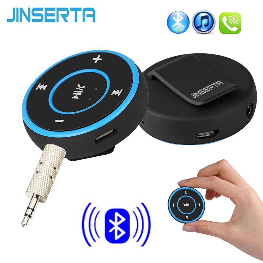 JINSERTA Wireless Bluetooth Audio Receiver Handsfree Car Kit A2DP Music Audio Adapter 3.5mm AUX Jack for Headphone Speaker(China (Mainland))