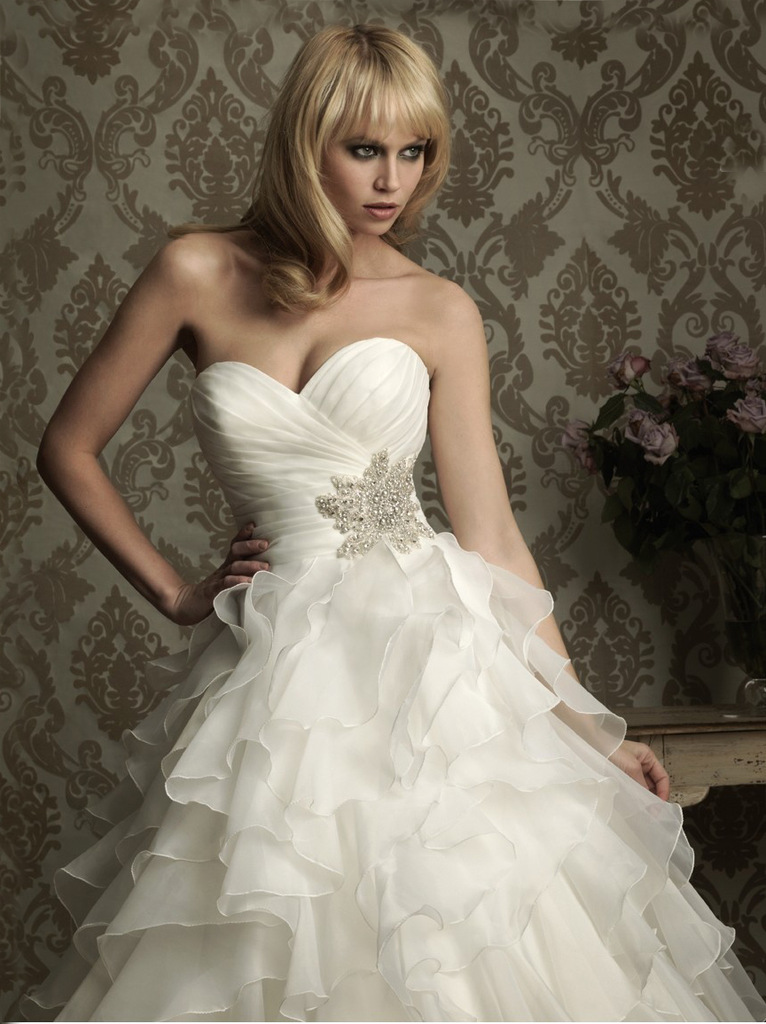Ball Gown Wedding Dresses With Color : New ball gown wedding dress customized size white and