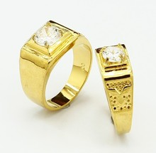 YGP-R32  Free Shipping 24K Yellow Gold Plated Lovers'  Crystal Ring  / Charmhouse 2013 New Arrival(China (Mainland))