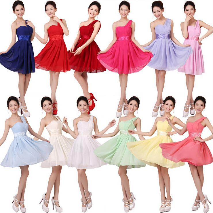 New arrival women's sexy one shoulder evening dress wedding bridesmaid dress party dress lady(China (Mainland))