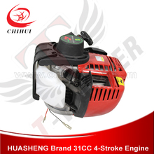 High Quality HUASHENG Brand 31cc 4-stroke Engine with 20T Gearbox & Pull Start(China (Mainland))