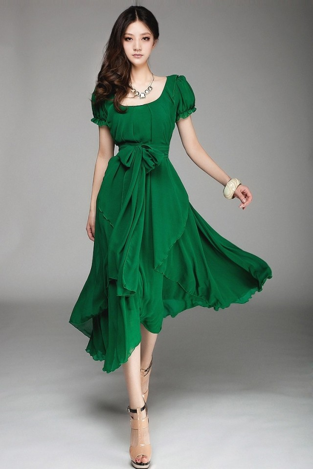 green summer dresses - Dress Yp