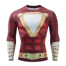 Новинка 2019 года, футболки с 3D принтом «Мстители 4 эндгейм Квантовая война», обтягивающая мужская кофта, костюм для косплея, топы для мужчин, о...(China)