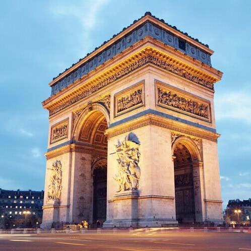 Arc de Triomphe European architecture wallpaper Paris city Night mural wallpaper 3D iving room