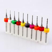 Hot 10pcs 0.3-1.2mm PCB Print Circuit Board Carbide Micro Drill Bit Tool Set(China (Mainland))