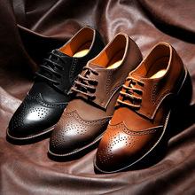 2014 hommes britanniques Stytle chaussures en cuir, Sculpté en cuir véritable Oxford chaussures, Top Quality Bullock chaussures hommes chaussures de sport(China (Mainland))