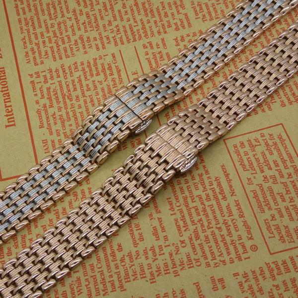 Новое поступление 18 мм 20 мм 22 мм из нержавеющей стали браслеты Rosegold мужские кварцевые часы аксессуары горячая распродажа продвижение
