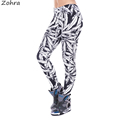 Zohra Autumn Winter Women Legging Fashion Sexy Legins Sketch Weeds Leggins Printing Stretch Woman Pants Leggings