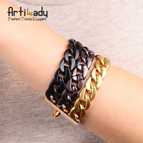 Artilady 3layers chain bracelet new arrivral simple bracelets women jewelry christmas gift