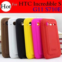 Xmart Brand New Soft Silicone Back Cover Case For HTC Incredible S G11 S710E + Free Shipping(China (Mainland))