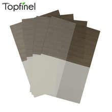 Top Finel 2016 Set of 4 PVC Color Block Placemats for Dining Table Runner Linens Place Mat in Kitchen Accessories Cup Wine Mat(China (Mainland))