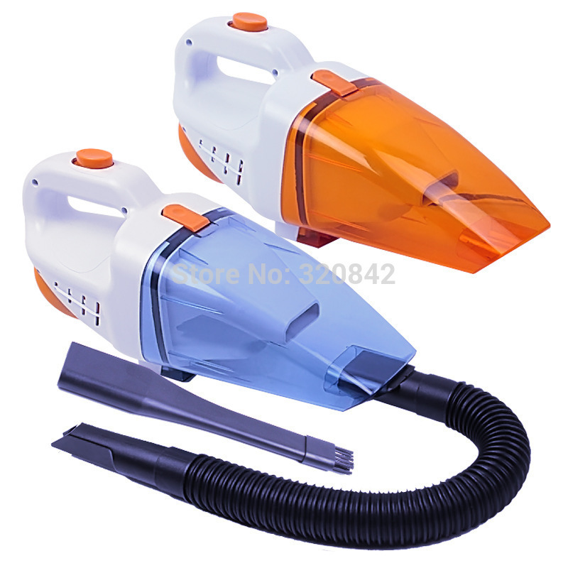 Car vacuum cleaner 90W 12V high power portable multifunction wet and dry vacuum cleaner 2 colors random car cleaner(China (Mainland))