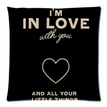 Love quote Comfortable Flannel Custom Zippered Square Cushion Cover