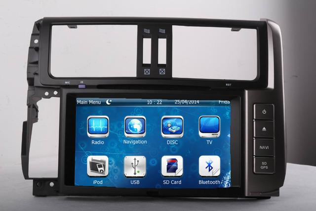 2 DIN Car Radio Audio DVD Player GPS TV SWC For TOYOTA PRADO 2010~Up Retail/Pc Free Shipping
