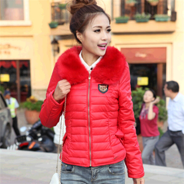 Genuine new winter 2014 women's short section thick cotton solid color Slim fashion casual warm jacket coat - MM Fashion Square store