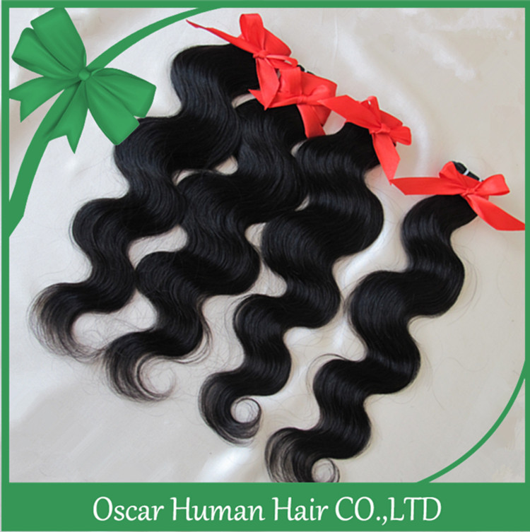 Oscar Hair FREE SHIPPING DHL Retail New Arrival Cheap Brazilian Human Hair Weave Body Wave New Style hair Products 6pcs/lot #1b(China (Mainland))