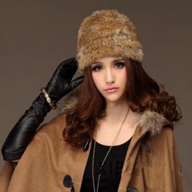 Подлинная меховая шапка 2015 новых природных бивер меховые шапки женская мода меховая ...