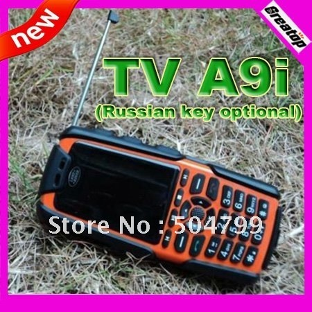 Sonim outdoor tv mobile phone A9i 5colors dual sim two big batteries long standby cell phone support russian keyboard
