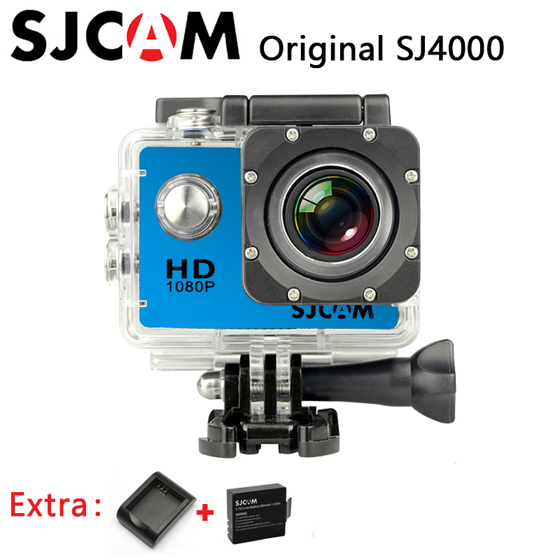 Original SJCAM SJ4000 Sport Action Camera Waterproof Full HD 1080P 30fps 12MP FPV Hero3 Style Camera +Extra 1pcs battery+Charger(China (Mainland))