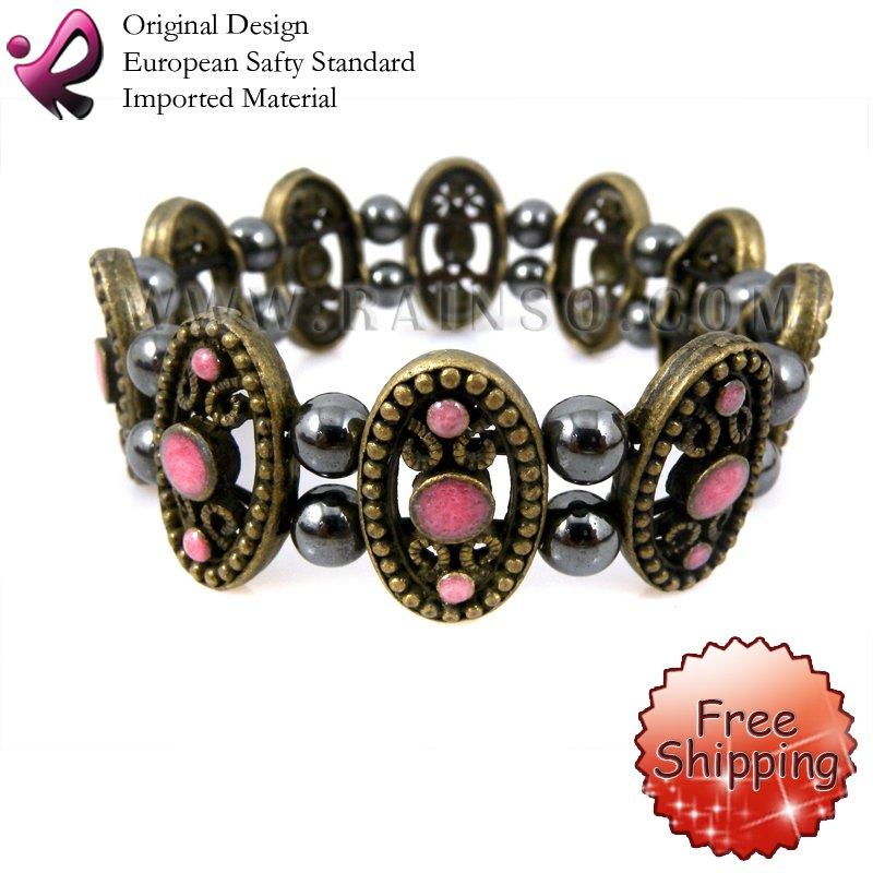 Free Shipping Rainso Promotion Wholesale Magnetic Hematite Bracelet Bangle Hematite Necklace Jewelry Wraps OHB-596P 5pcs/lot<br><br>Aliexpress