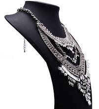 2015 New Fashion Design Bridal Jewelry Vintage Neck Bib Collar Chokers Statement Necklaces Pendants Pearls Beads