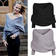 Women Long Sleeve Loose Cardigan Knitted Sweater Jumper Knitwear Outwear Coat(China (Mainland))