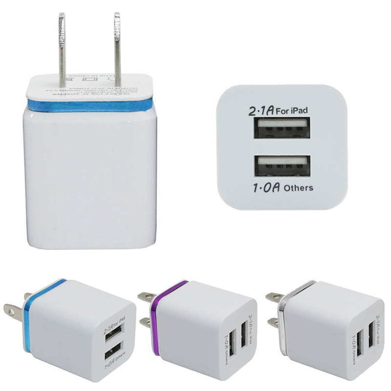 Top Quality US Plug 10W Home Travel Dual Port AC USB Wall Charger for iPhone 5s 5c 6 6s plus for Samsung Galaxy S6 S7 edge plus(China (Mainland))