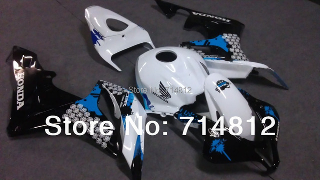 Fairing For Honda CBR 600 RR 2007 2008 CB600RR 2007 2008 CBR600 RR 07-08 graffiti white black ABS Plastic Bodywork Set HC04