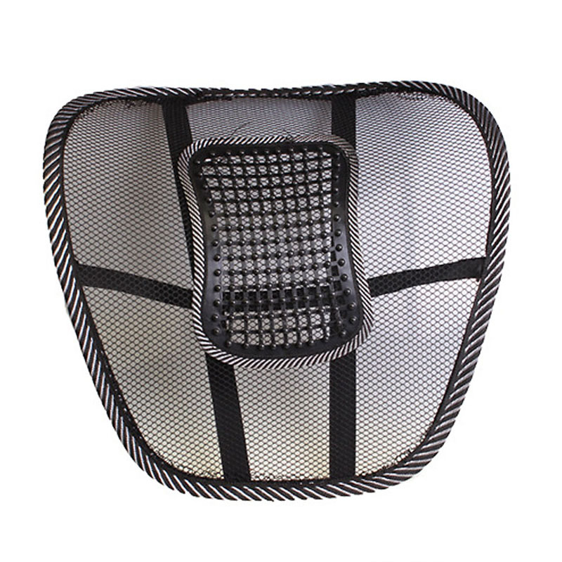 20 27day delivery buh9 black mesh cloth car seat cushion lumbar waist back support lumbar. Black Bedroom Furniture Sets. Home Design Ideas