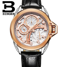 2016 Brand BINGER Business Noctilucence Stainless Steel Men Quartz Watch 50m Water Resistance Fashion Luxury Male Wristwatches