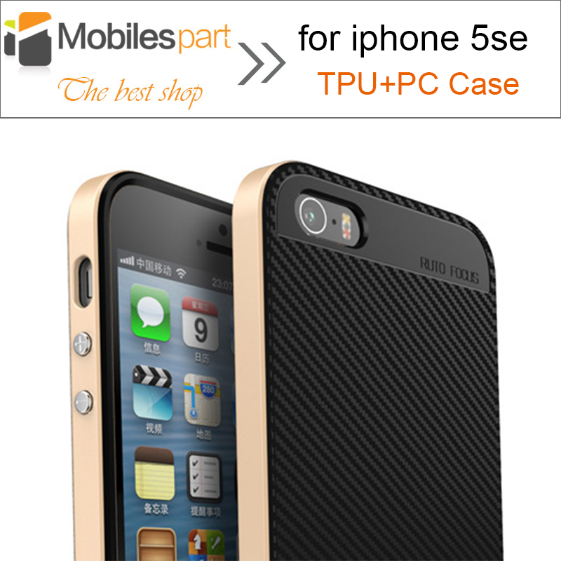 Case for iphone 5se High Quality Shockproof Luxury Neo Hybrid Armor TPU+PC Case with Frame Silicone Case cover for iphone 5se(China (Mainland))