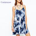 Coromose Retro Casual Dresses Women Clothing Plus SIZE Beach Summer Women Dress Print Camis Dress Vestidos