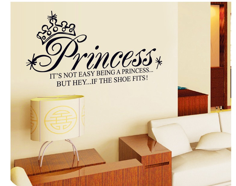 Cartoon Princess Home Decor Wall Stickers For Kids Rooms