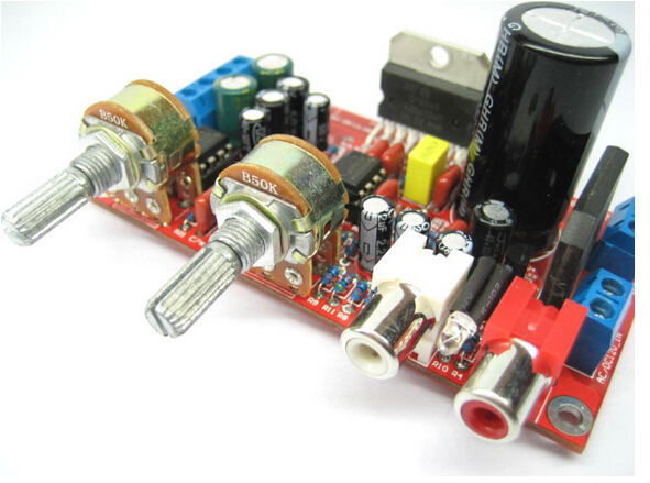 Free Shipping electronic kit 2.1 STA540 three-channel subwoofer amplifier board newest upgrade two NE5532 dual op amp DIY kit(China (Mainland))