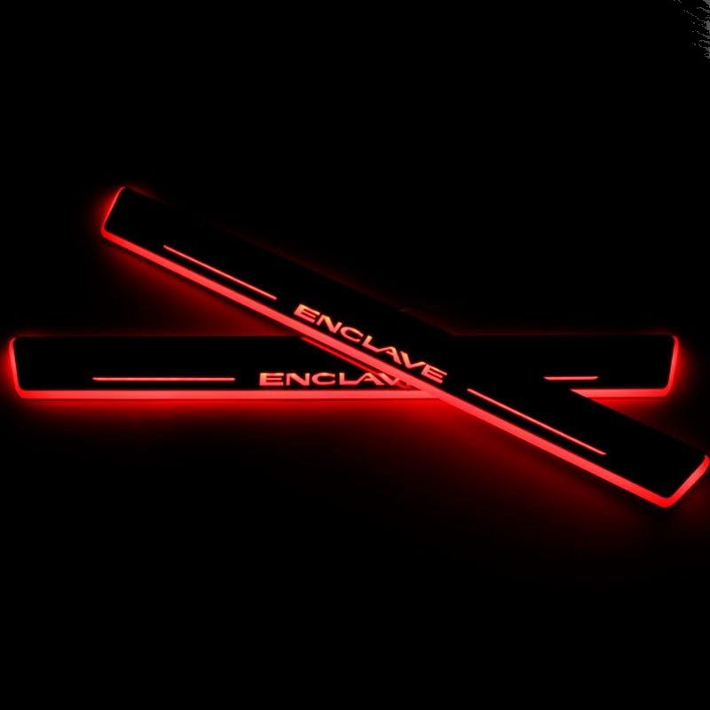 2X COOL !!!  LED running Light Door Sill Scuff Plate Guard for  Buick Enclave 2013-2015 Red/Blue/White<br><br>Aliexpress