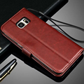 Promotions S7 Leather Wallet Case for Samsung Galaxy N9150 S4 S5 S6 edge Plus S7 edge